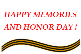 HAPPY MEMORIES AND HONOR DAY !